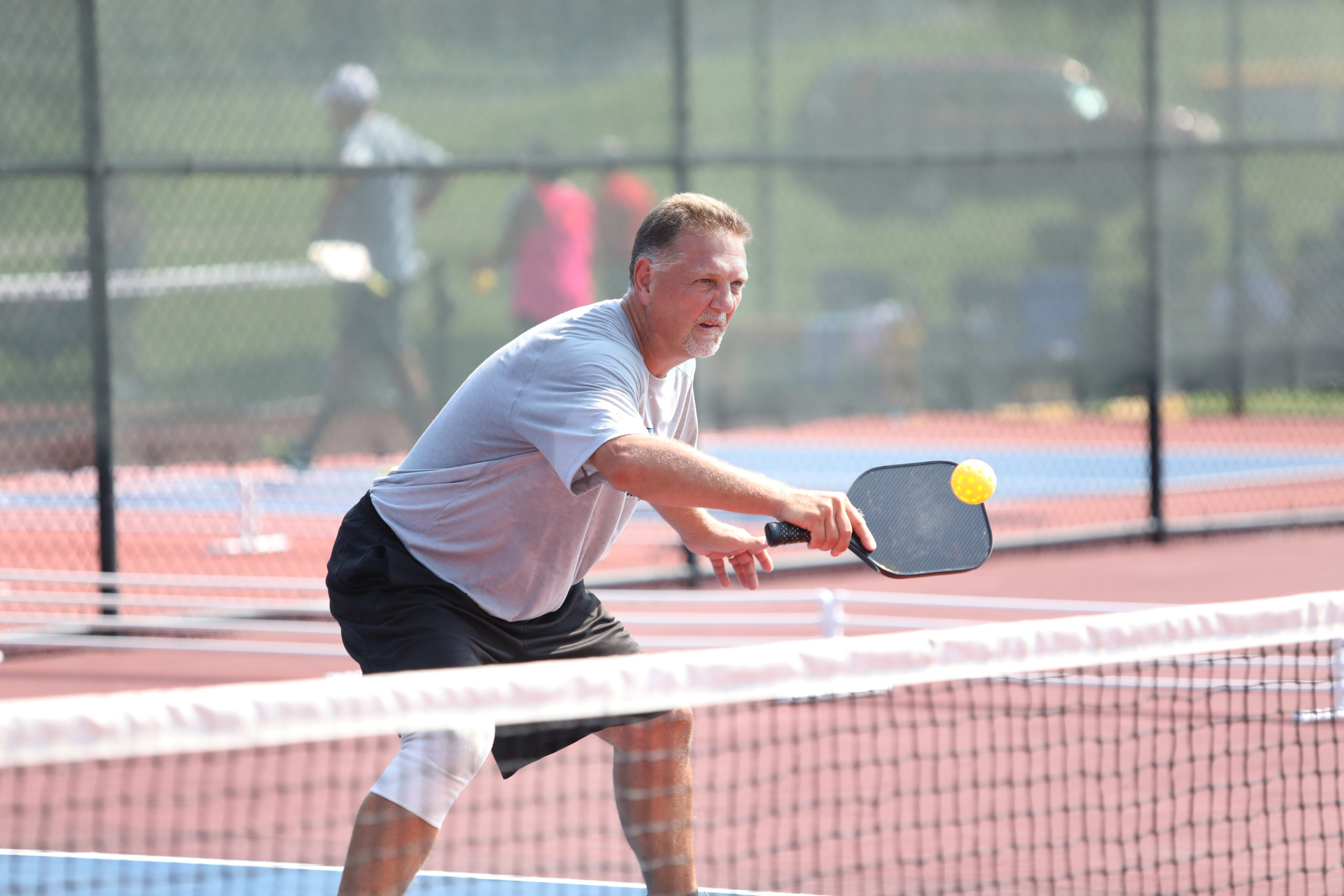 pickleball tournament shot