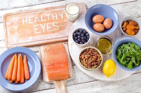 Healthy foods for improving eyesight.